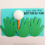 DIY fathers day crafts, fathers day craft, fathers day golf craft, homemade fathers day gift ideas, diy fathers day gifts