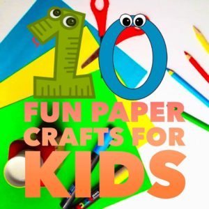10 Fun Paper Crafts For Kids Thebloggermommy Video How To S